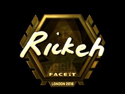 Sticker | Rickeh (Gold) | London 2018