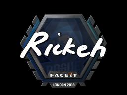 Sticker | Rickeh | London 2018