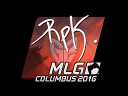 Sticker | RpK (Foil) | MLG Columbus 2016