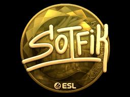 Sticker | S0tF1k (Gold) | Katowice 2019