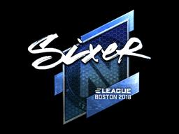 Sticker | SIXER (Foil) | Boston 2018