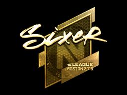 Sticker | SIXER (Gold) | Boston 2018