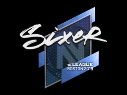 Sticker | SIXER | Boston 2018