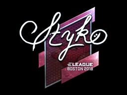 Sticker   STYKO (Foil)   Boston 2018