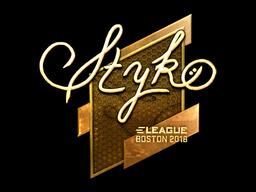 Sticker   STYKO (Gold)   Boston 2018