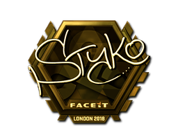 Sticker   STYKO (Gold)   London 2018