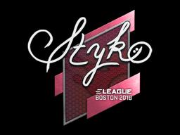 Sticker   STYKO   Boston 2018