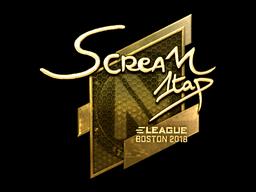 Sticker | ScreaM (Gold) | Boston 2018