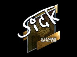 Sticker   SicK (Foil)   Boston 2018