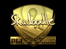 Sticker   Skadoodle (Gold)   Krakow 2017