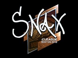 Sticker | Snax (Foil) | Boston 2018