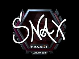 Sticker | Snax (Foil) | London 2018