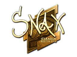 Sticker | Snax (Gold) | Boston 2018