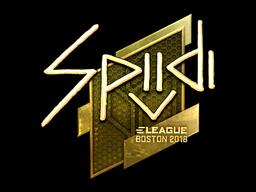 Sticker | Spiidi (Gold) | Boston 2018