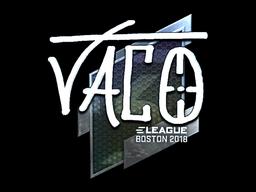 Sticker   TACO (Foil)   Boston 2018