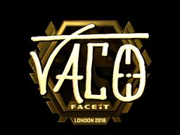 Sticker   TACO (Gold)   London 2018