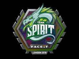 Sticker | Team Spirit (Holo) | London 2018