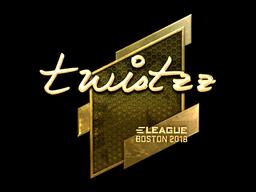 Sticker | Twistzz (Gold) | Boston 2018