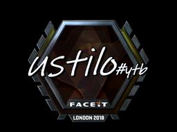 Sticker | USTILO (Foil) | London 2018