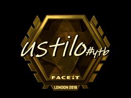 Sticker | USTILO (Gold) | London 2018