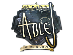 Sticker | ableJ (Gold) | Berlin 2019