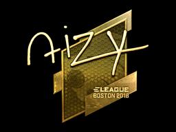 Sticker | aizy (Gold) | Boston 2018
