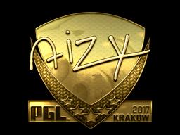 Sticker | aizy (Gold) | Krakow 2017