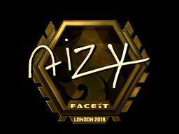 Sticker | aizy (Gold) | London 2018