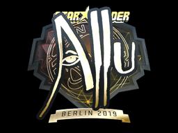 Sticker | allu (Gold) | Berlin 2019