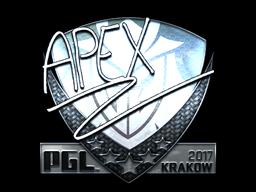 Sticker | apEX (Foil) | Krakow 2017