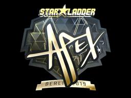 Sticker | apEX (Gold) | Berlin 2019