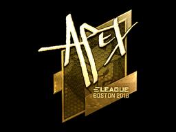 Sticker | apEX (Gold) | Boston 2018