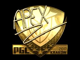 Sticker | apEX (Gold) | Krakow 2017
