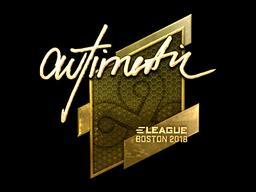 Sticker | autimatic (Gold) | Boston 2018