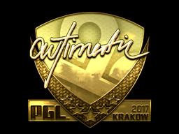 Sticker | autimatic (Gold) | Krakow 2017