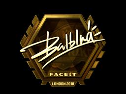 Sticker | balblna (Gold) | London 2018