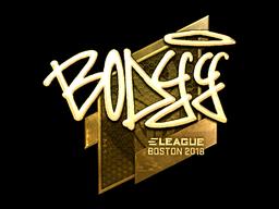 Sticker | bodyy (Gold) | Boston 2018