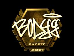 Sticker | bodyy (Gold) | London 2018