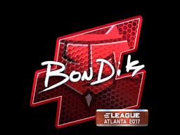 Sticker | bondik (Foil) | Atlanta 2017