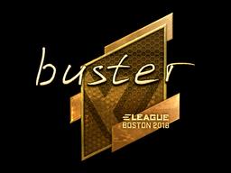Sticker | buster (Gold) | Boston 2018