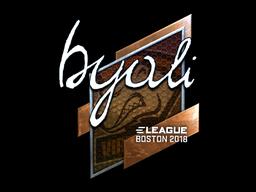 Sticker | byali (Foil) | Boston 2018