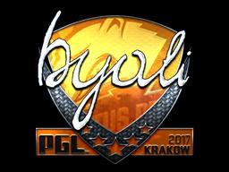 Sticker | byali (Foil) | Krakow 2017