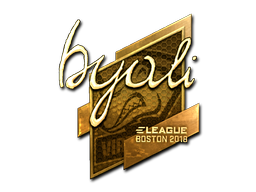 Sticker | byali (Gold) | Boston 2018