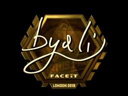 Sticker | byali (Gold) | London 2018