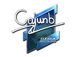 Sticker | cajunb (Foil) | Boston 2018
