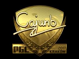 Sticker | cajunb (Gold) | Krakow 2017