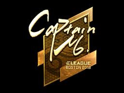 Sticker | captainMo (Gold) | Boston 2018