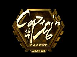 Sticker | captainMo (Gold) | London 2018