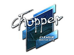 Sticker | chopper (Foil) | Boston 2018