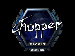 Sticker | chopper (Foil) | London 2018
